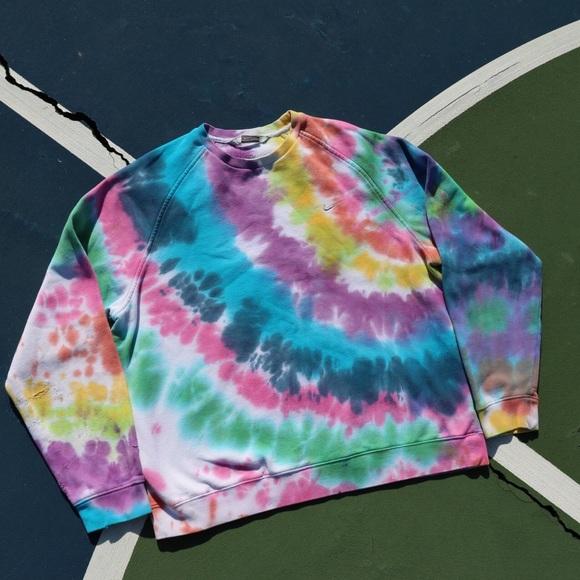 Nike Sweaters - Nike Tie Dye Crewneck🌈